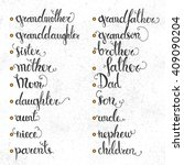 set of vector vintage text.... | Shutterstock .eps vector #409090204