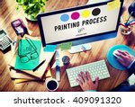 printing process offset ink... | Shutterstock . vector #409091320