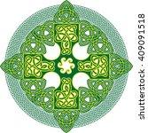celtic knot cross. abstract...   Shutterstock .eps vector #409091518