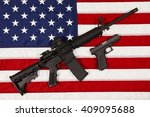 ar15 m4a1 style weapon... | Shutterstock . vector #409095688