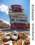 Small photo of Portoviejo, Ecuador - April, 18, 2016: Building showing the aftereffect of 7.8 earthquake