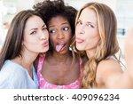 Beautiful Women Making A Funny...