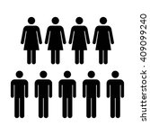 people icon   men   women vector | Shutterstock .eps vector #409099240