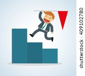 flat illustration about success ... | Shutterstock .eps vector #409102780