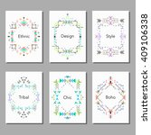 boho tribal ethnic colorful... | Shutterstock .eps vector #409106338