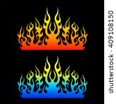 set of colored tribal flames... | Shutterstock .eps vector #409108150