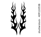 flame tattoo tribal vector... | Shutterstock .eps vector #409110538
