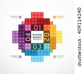 infographic color building... | Shutterstock .eps vector #409114240