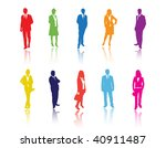 business people | Shutterstock .eps vector #40911487