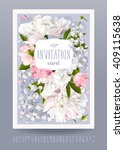 romantic flower invitation or... | Shutterstock .eps vector #409115638