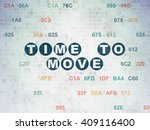 timeline concept  painted blue... | Shutterstock . vector #409116400