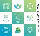 spa icons   vector illustration | Shutterstock .eps vector #409116784