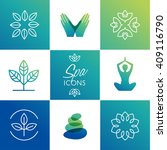 spa icons   vector illustration | Shutterstock .eps vector #409116790