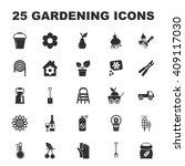 farm  gardening 25 black simple ... | Shutterstock . vector #409117030