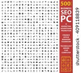business  seo  pc set 500 black ... | Shutterstock . vector #409118839