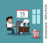 deadline design concept... | Shutterstock .eps vector #409119154