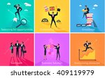 business banner teamwork and... | Shutterstock .eps vector #409119979