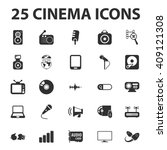 cinema icons set.   | Shutterstock . vector #409121308