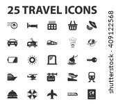 travel icons set.  | Shutterstock . vector #409122568