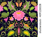 vintage ornate floral wallpaper ... | Shutterstock .eps vector #409128328
