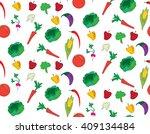 assorted vegetables seamless...   Shutterstock .eps vector #409134484