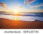 sunset and sea | Shutterstock . vector #409135744