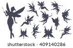 cute fairies silhouette...