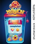 colored mission completed... | Shutterstock .eps vector #409145896