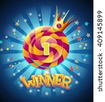 colored winners window for site ... | Shutterstock .eps vector #409145899