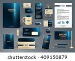 corporate identity template.... | Shutterstock .eps vector #409150879