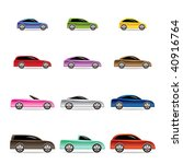 different types of cars icons   ... | Shutterstock .eps vector #40916764