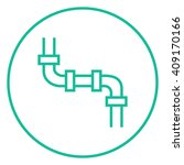 water pipeline line icon.   Shutterstock .eps vector #409170166