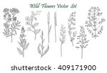 wild flowers set | Shutterstock .eps vector #409171900