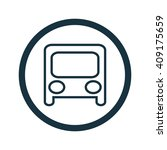 vector illustration of bus icon
