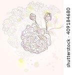 vintage english rose   vector... | Shutterstock .eps vector #409184680