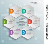 vector abstract 3d paper... | Shutterstock .eps vector #409194358