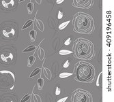 seamless pattern of floral... | Shutterstock .eps vector #409196458