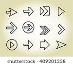 arrow outline icons  vector | Shutterstock .eps vector #409201228