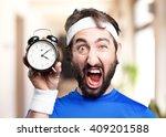 crazy sports man.funny... | Shutterstock . vector #409201588