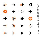 arrow icons  vector | Shutterstock .eps vector #409202863