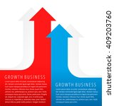 increasing graphs concept. red... | Shutterstock .eps vector #409203760