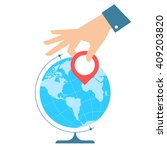 business travel concept. flat... | Shutterstock .eps vector #409203820
