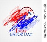 illustration for labor day | Shutterstock .eps vector #409214083