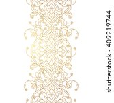 vector line art seamless border ... | Shutterstock .eps vector #409219744