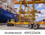 industrial port with containers | Shutterstock . vector #409222636