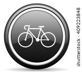 bicycle black circle glossy web ... | Shutterstock . vector #409223848