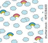 sky seamless pattern | Shutterstock .eps vector #409228600