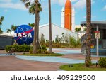 nasa space center in florida... | Shutterstock . vector #409229500