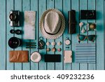 summer vacation things neatly... | Shutterstock . vector #409232236