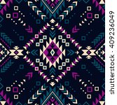dark color tribal navajo vector ...   Shutterstock .eps vector #409236049
